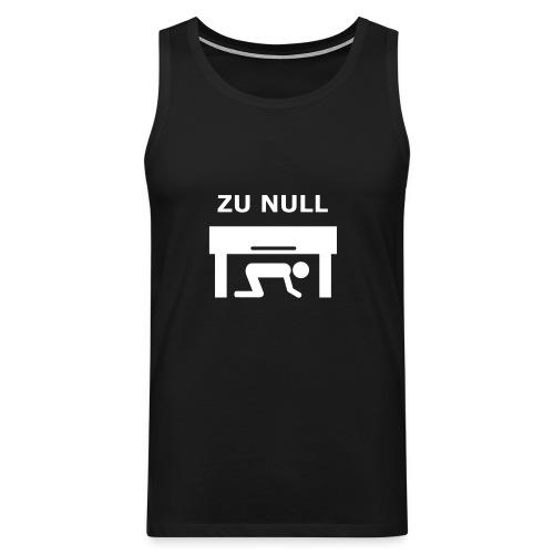 Tank Top Zu Null - Männer Premium Tank Top
