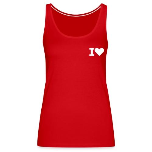 I Love in Red - Women's Premium Tank Top