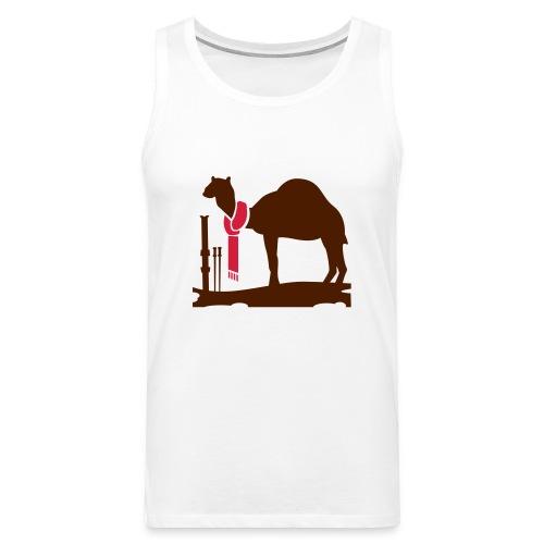 CAMEL IN WINTER - Men's Premium Tank Top