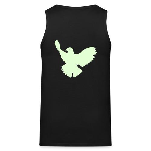 Zerofication Glow in the Dark Dove of Peace  - Men's Premium Tank Top