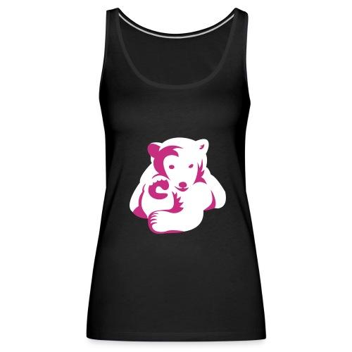 Bären-Shirt, Marken-Girlie mit Motiv - Frauen Premium Tank Top