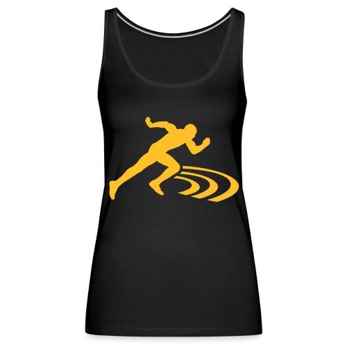 run shirt - Frauen Premium Tank Top
