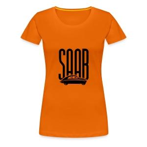 Retro Saab92 (Woman, Orange/Black) - Women's Premium T-Shirt