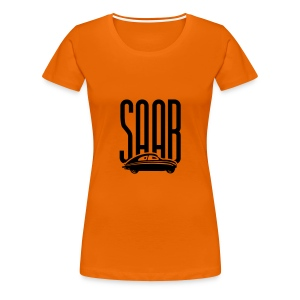 Retro Saab92 (Woman, Orange/Black) - Women's Premium T-Shirt