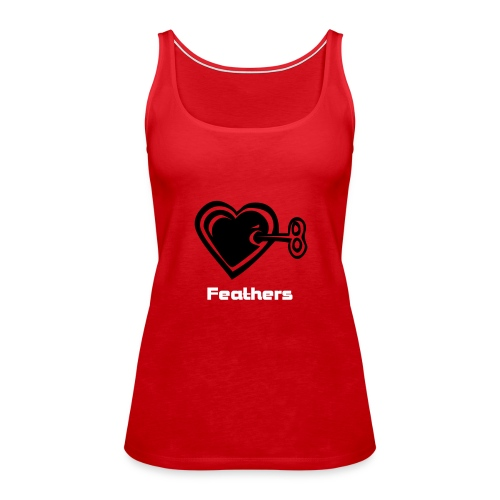 Feathers Heart - Women's Premium Tank Top
