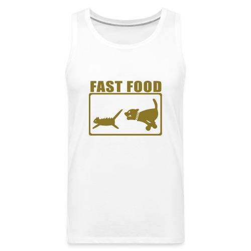 fast food weiß - Männer Premium Tank Top