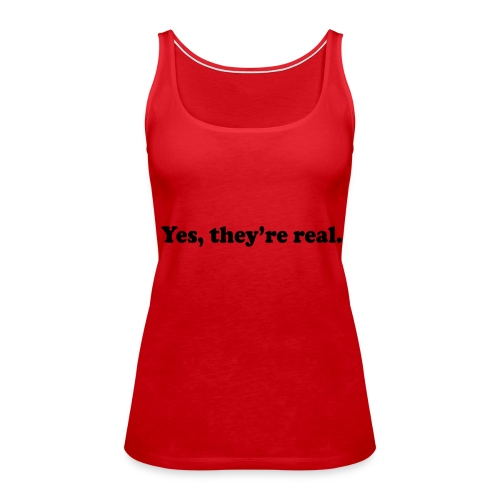 Red Real Spaghetti Top - Women's Premium Tank Top