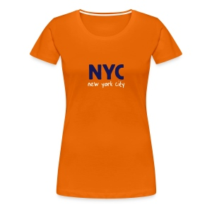 Girlie-Shirt NYC orange - Frauen Premium T-Shirt