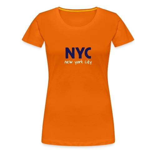Girlie-Shirt NYC orange - Frauen Premium T-Shirt