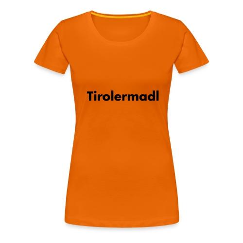 Tirolermadl Schwarz - verschiedene Farben - Frauen Premium T-Shirt