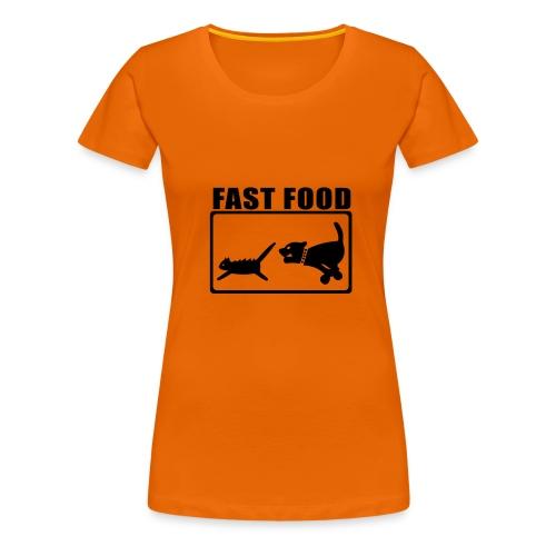 FAST FOOD - Continental Classic Girlie - Frauen Premium T-Shirt