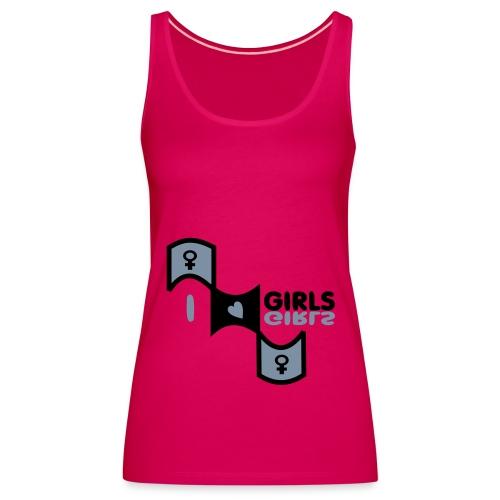 I love girls - Women's Premium Tank Top