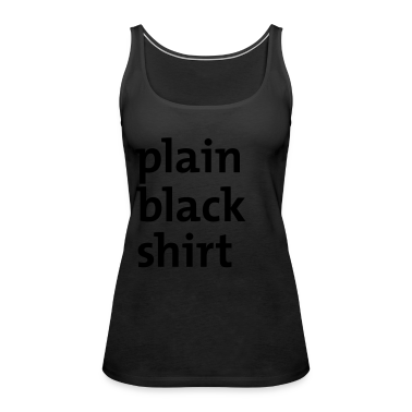 Black plain black shirt Ladies'