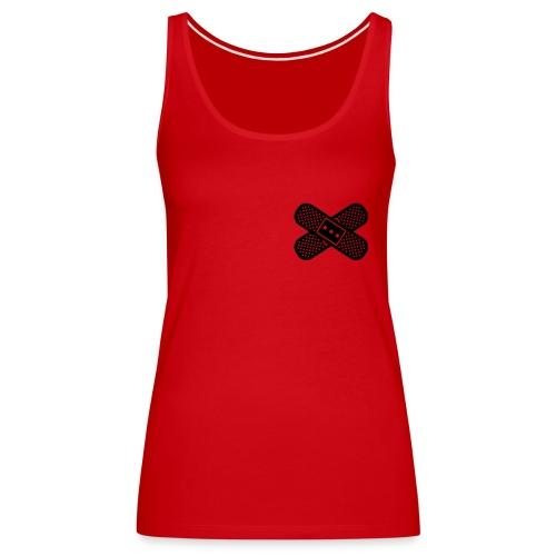 Heart Bandage Women T-Shirt Red - Women's Premium Tank Top