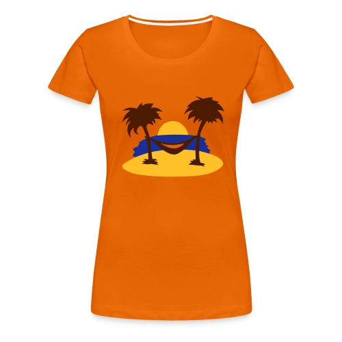 Summer Beach - Premium-T-shirt dam