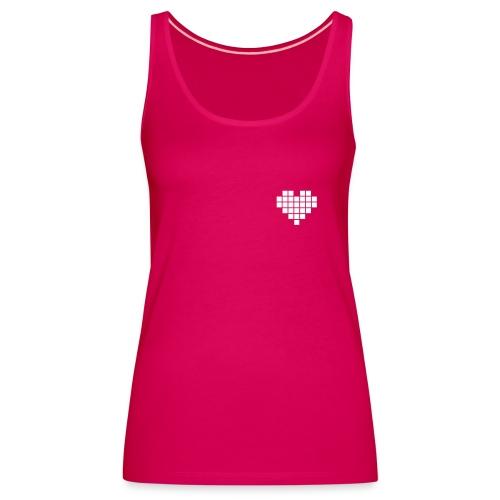 Heart Pixel Women T-Shirt Pink - Women's Premium Tank Top