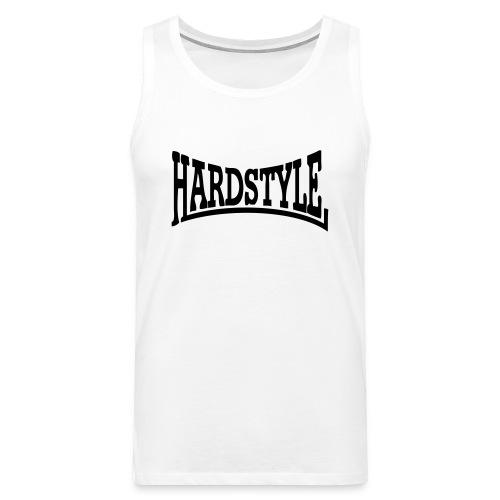 débardeur homme hardstyle blanc/noir - Débardeur Premium Homme