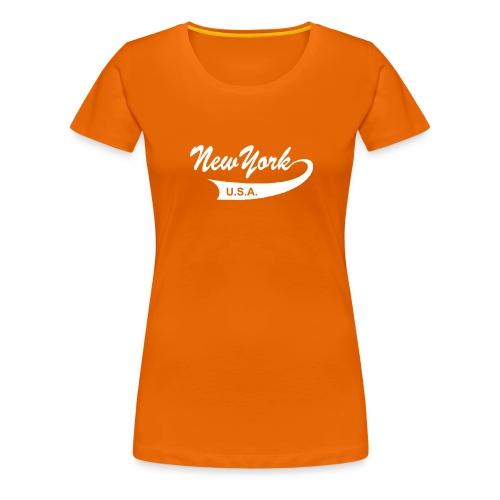 Girlie-Shirt NEW YORK USA orange - Frauen Premium T-Shirt