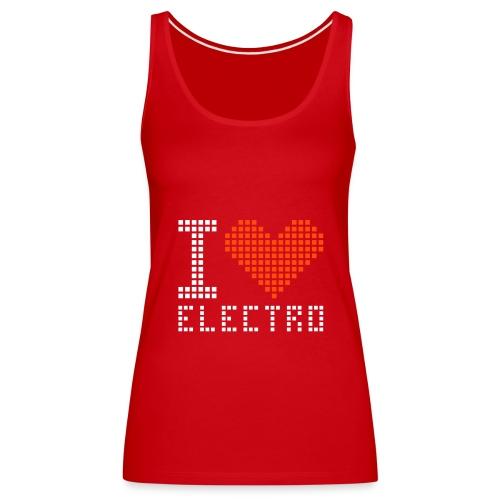 i love electro femme - Débardeur Premium Femme