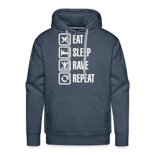 Sweat EAT SLEEP RAVE REPEAT - Sweat-shirt à capuche Premium pour hommes