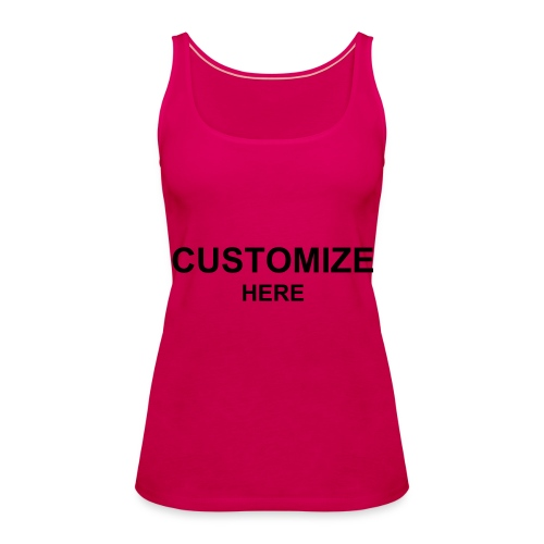 Womens Spaghetti Top; 6 Colours - Women's Premium Tank Top