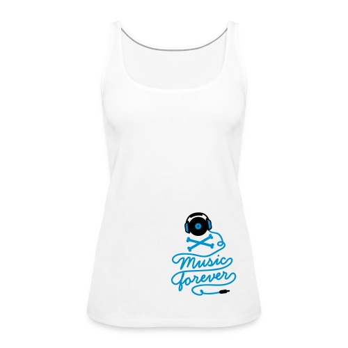 Music is forever - white - Women's Premium Tank Top
