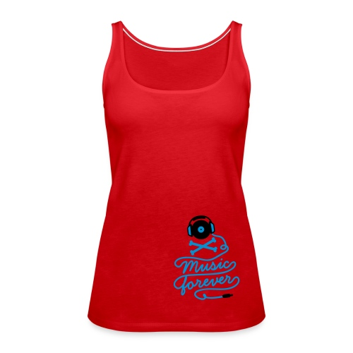 Music is forever - red - Women's Premium Tank Top