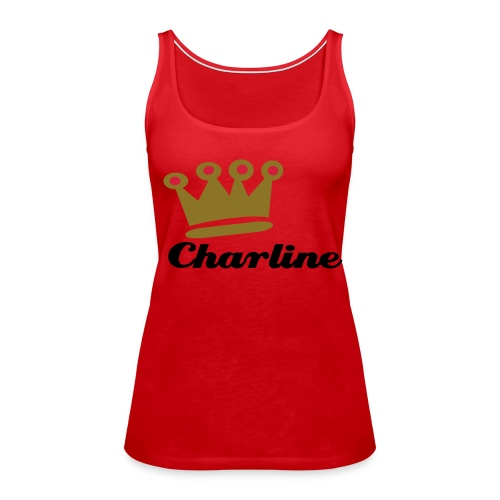 Top rouge queen Charline - Débardeur Premium Femme