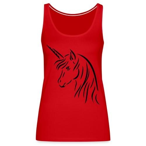 Horse red - Premium singlet for kvinner