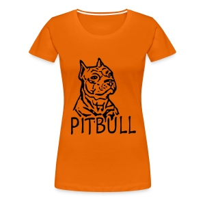 Womens Tee with Pitbull Print - Women's Premium T-Shirt