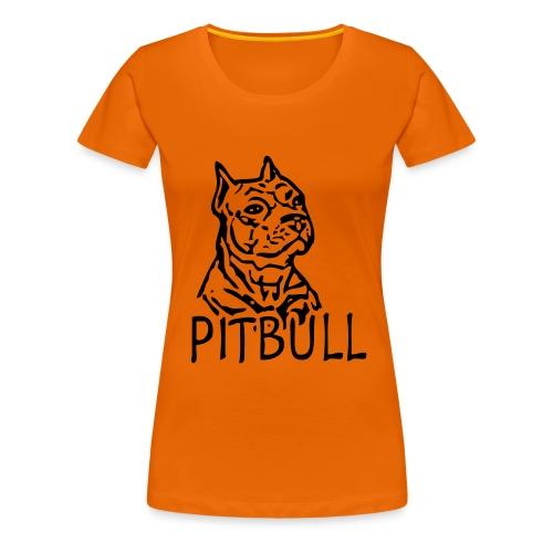 Womens Tee with Pitbull Print - Women's Premium T-Shirt