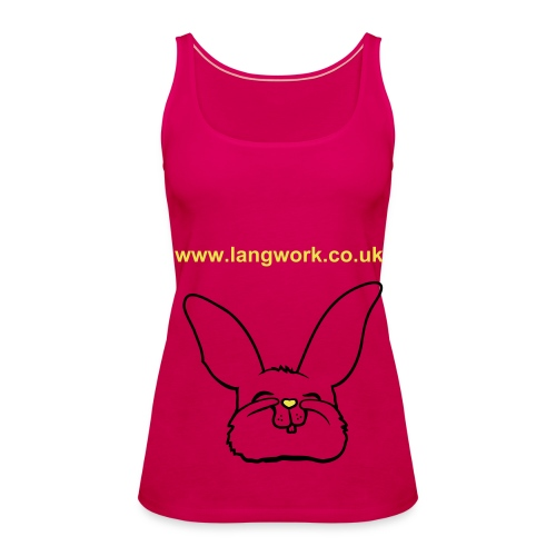 Langwork Women's Top Bunny - Women's Premium Tank Top