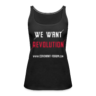 Tops ~ Frauen Premium Tank Top ~ We Want 1 Tank