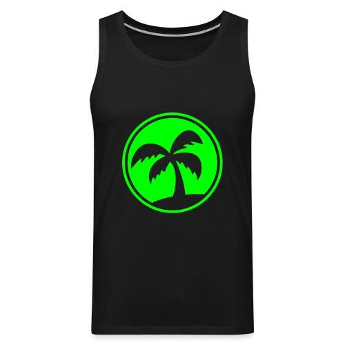 Ärmlös T-Shirt Herr med motiven Palm - Premiumtanktopp herr