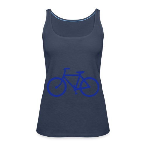 tshirt bretelle turquoise fahrrad - Débardeur Premium Femme