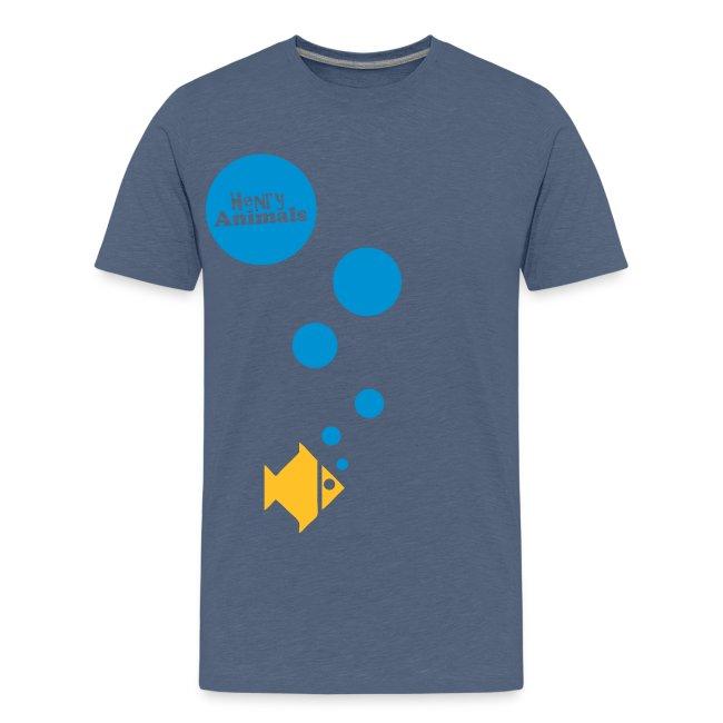 Kinder T-Shirt orange mit Fisch