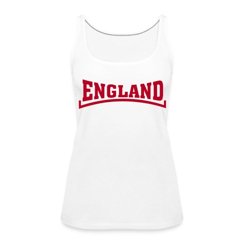 england vest 2 white - Women's Premium Tank Top