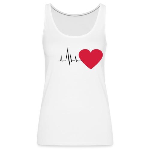 Heart Beat - Naisten premium hihaton toppi