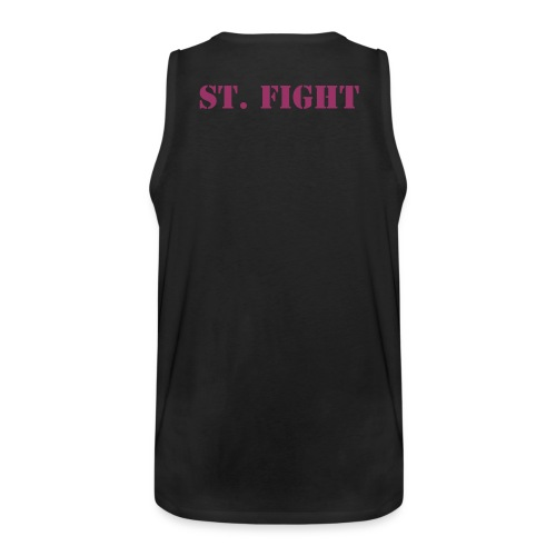 St. Fight Muscleshirt Backside - Männer Premium Tank Top