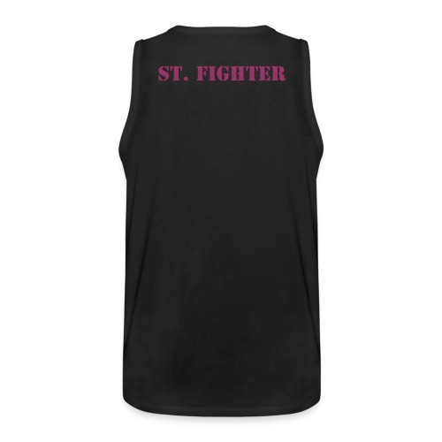 St. Fighter Muscleshirt Backside - Männer Premium Tank Top