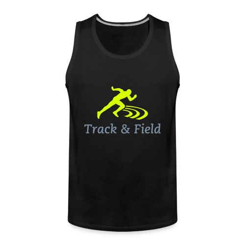 Track and field Sleeveless (grey-gold) - Débardeur Premium Homme