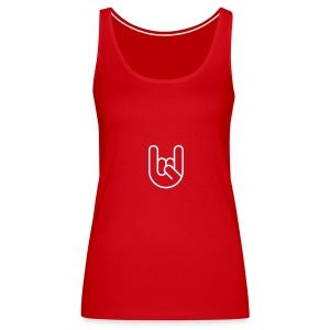 Rock hand - Vrouwen Premium tank top