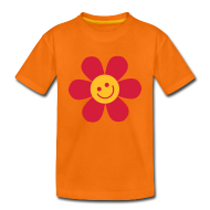 T-Shirts ~ Teenager Premium T-Shirt ~ Happy Flower - Kinder T Shirt klassisch