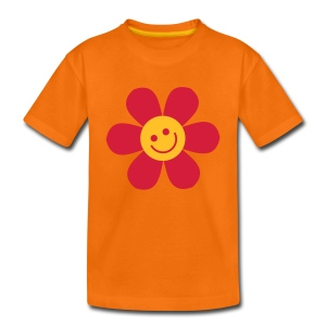 Happy Flower - Kinder T Shirt klassisch - Teenager Premium T-Shirt
