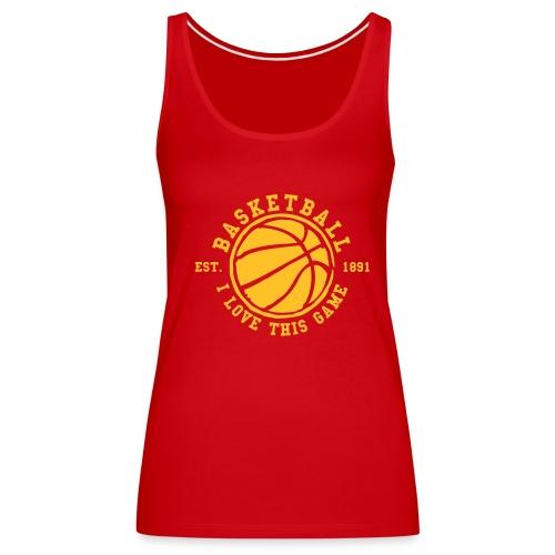Dla tych którzy lubią koszykówkę i w-f - Tank top damski Premium