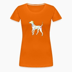 Guldorange colorfully dog - dalmatiner T-shirts