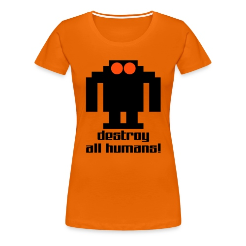 Dam T-Shirt med tryck, valfri färg - Premium-T-shirt dam