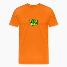 Golden orange Homegrown[THC] Cube - Marijuana Cannabis Dice Men's T-Shirts