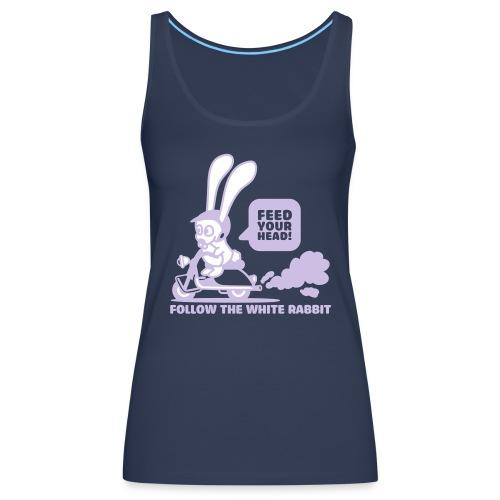 Follow the white rabbit!! - Canotta premium da donna