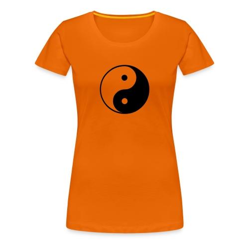 Yin och Yang - Premium-T-shirt dam